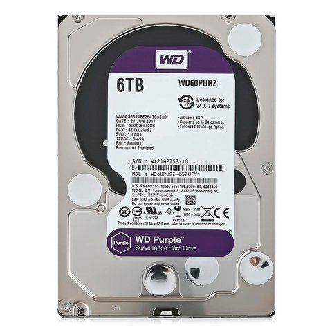 Disco Rígido WD Purple 6TB Intellipower WD60PURZ (NRI224)