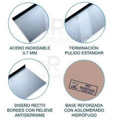 Mesada Johnson Acero Inoxidable  100 X 61 Ciega Lisa 1,00 en internet