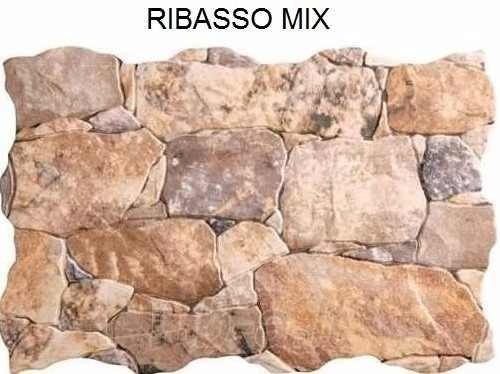 Revestimiento simil piedra ceramica ribassos mix pared Baldosa pared piedra