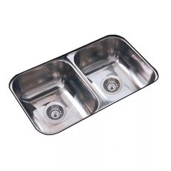 Pileta Bacha De Cocina Doble Johnson C28 Acero Inoxidable
