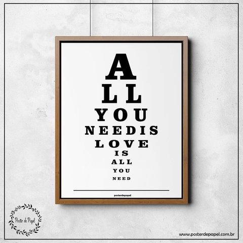 Poster All You Need - comprar online