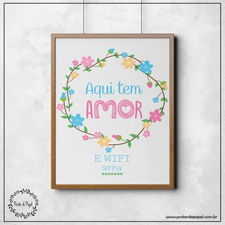 Poster Personalizável Amor e Wifi