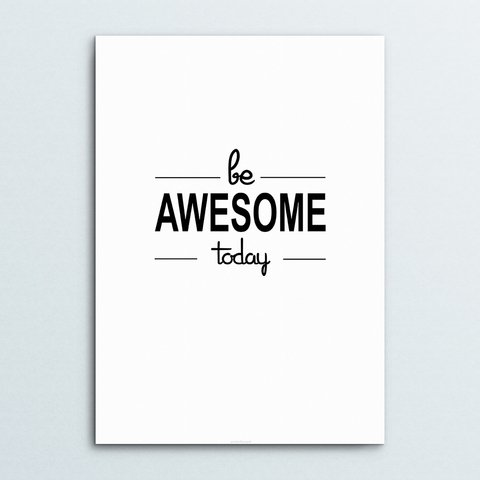 Poster Be Awesome - comprar online