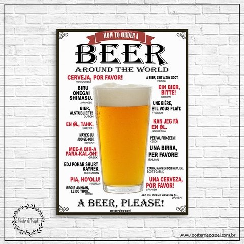 Placa Decorativa Beer - comprar online