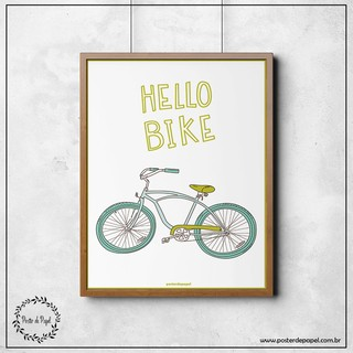 Poster Decorativo Hello Bike