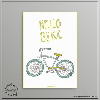 Poster Decorativo Hello Bike - comprar online