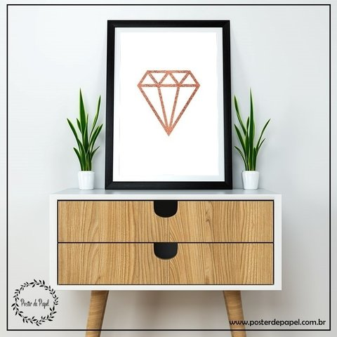 Poster Rose Gold Diamond