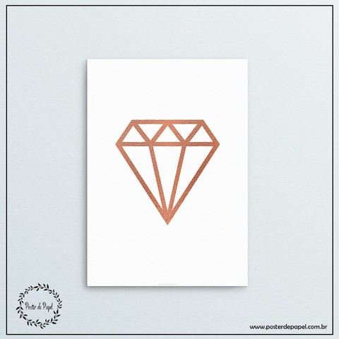 Poster Rose Gold Diamond - comprar online