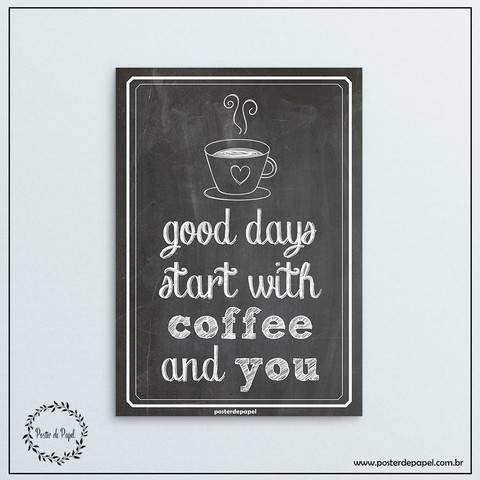 Poster tipo Chalkboard Good Days - comprar online