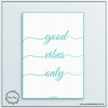 Poster Decorativo Good Vibes - comprar online
