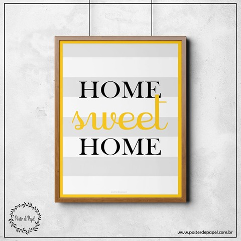 Poster Decorativo Home Sweet Home