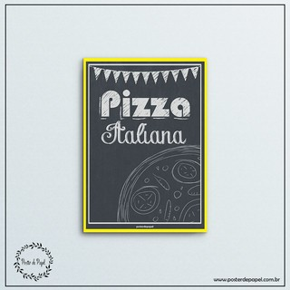Poster tipo Chalkboard Italian Pizza - comprar online