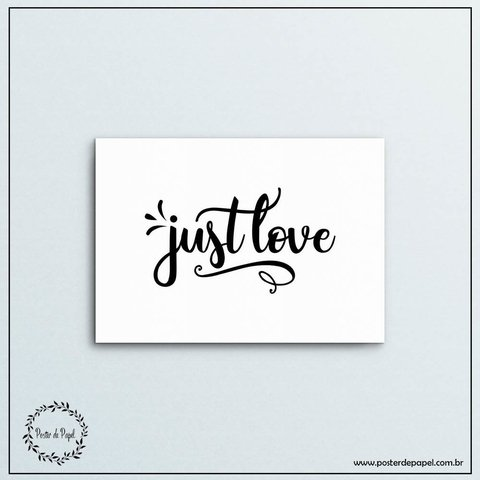 Poster Horizontal Just Love - comprar online