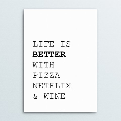 Poster Life is Better - comprar online