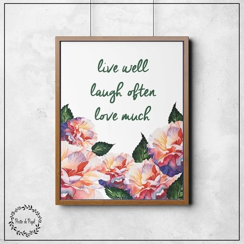 Poster Floral Live Well na internet