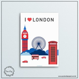 Poster Love London - comprar online