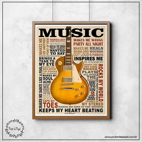 Poster decorativo Music