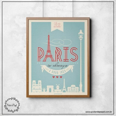 Poster Decorativo Paris
