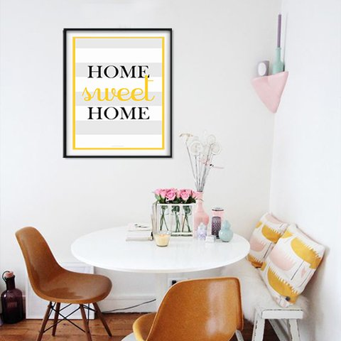 Poster Decorativo Home Sweet Home na internet