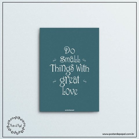 Poster decorativo Small Things - comprar online