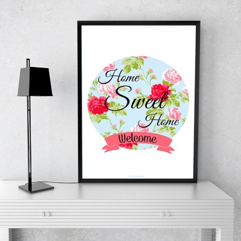 Poster Decorativo Floral Welcome