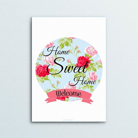Poster Decorativo Floral Welcome - comprar online