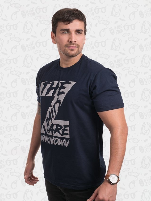 Camisa Z The Limits Are Unknown Azul - Masculina - comprar online