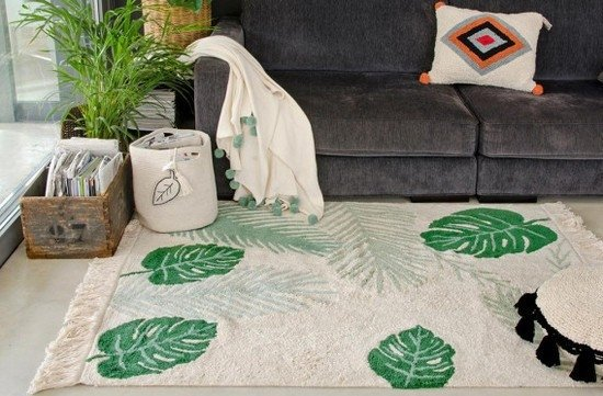 Tapete Tropical Verde 1,40 x 2,00 - Lorena Canals - comprar online