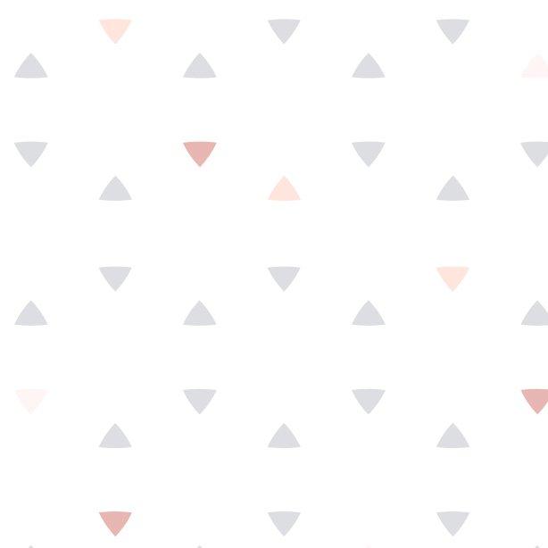Papel De Parede Bolas De Triangulos Tri Rosa Exclusivo
