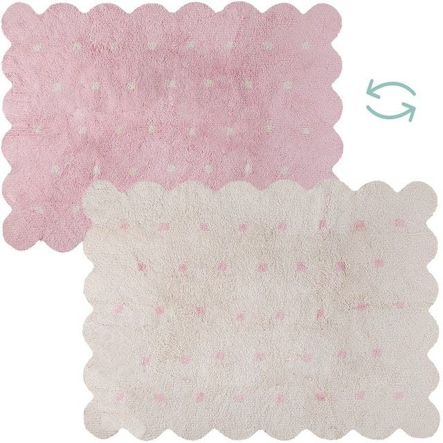 Tapete Galleta Dupla Face Rosa 1,20 x 1,60 - Lorena Canals