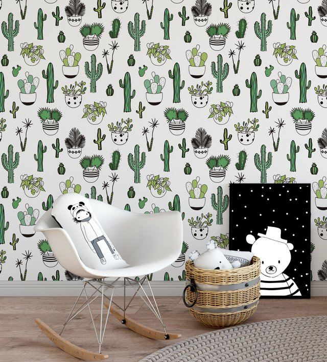Papel de Parede Cactus - Verde - Mama Loves You - comprar online
