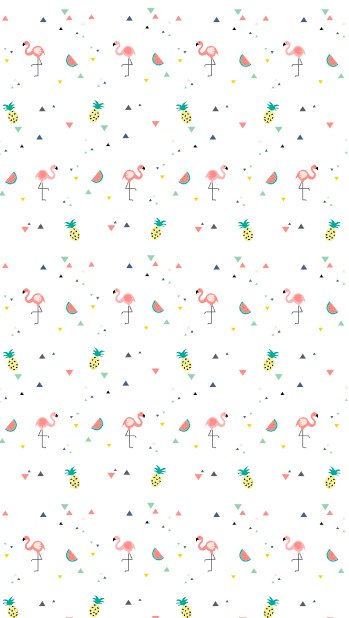 Papel de Parede Tropical - Flamingo Branco (Exclusivo) na internet