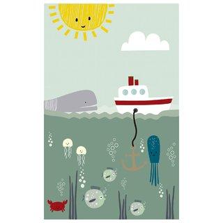 Tapete Playmat Retangular Fundo do Mar 1......