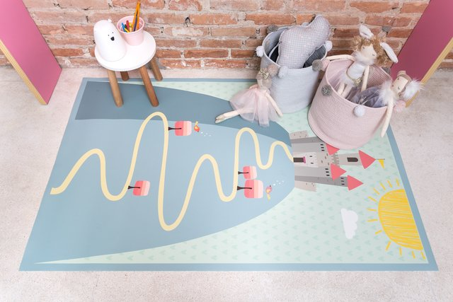 Tapete Playmat Retangular Reino Encantado 1,00 x 1,60 - Exclusivo - Betsy Decor