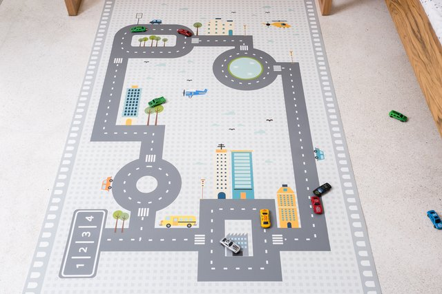 Tapete Playmat Retangular Pista de Carrinho 1,00 x 1,60 - Exclusivo na internet