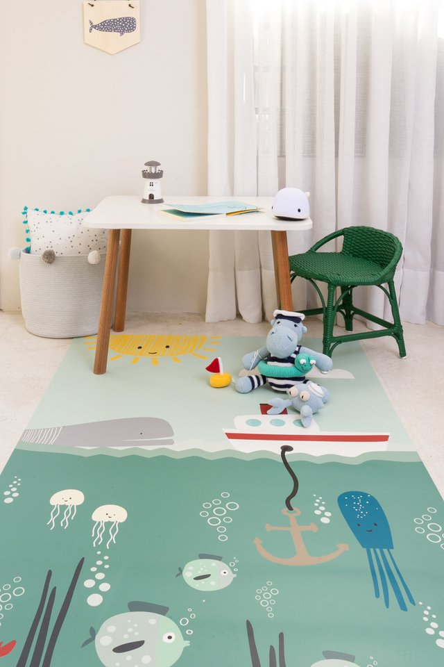 Tapete Playmat Retangular Fundo do Mar 1,00 x 1,60 - Exclusivo - comprar online