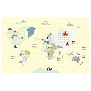 Tapete Playmat Retangular Mapa-Mundi 1,0......