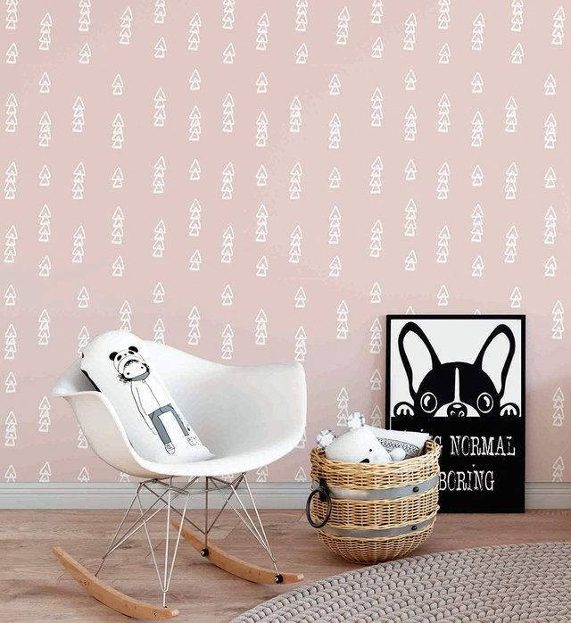 Papel de Parede Setas - Rosa - Mama Loves You - comprar online