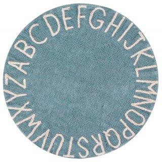 Tapete ABC Azul Vintage 1,50 de diâmetro......