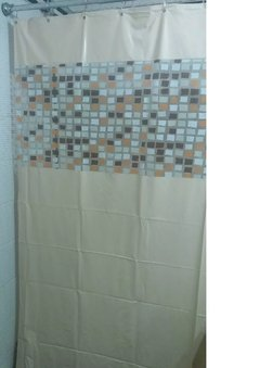 Cortina Baño 2,20 Mt Pvc Anoa Moderna Durable