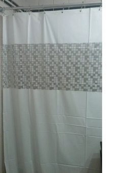 Cortina Baño 2,20 Mt Pvc Anoa Moderna Durable en internet