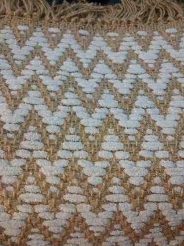 alfombra de living moderna espigas de yute y algodn x
