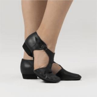 e55a3fb642 Sapato de Jazz em 4x sem juros  Couro preto