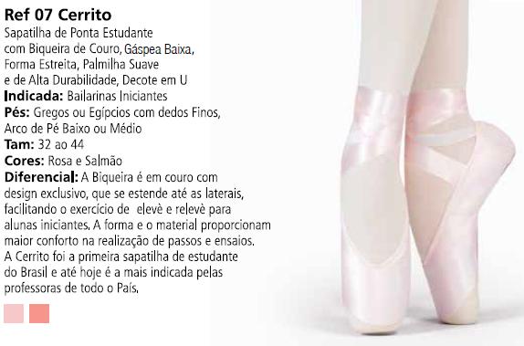 01e5130197 Sapatilha de Ponta Cerrito Tip Toe - Capézio Ref 07