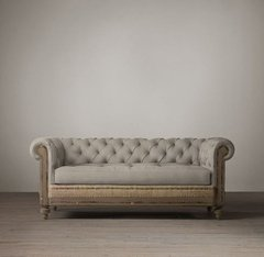 SOFA CHESTERFIELD DECONSTRUCTED - 45% OFF EN EFECTIVO - comprar online
