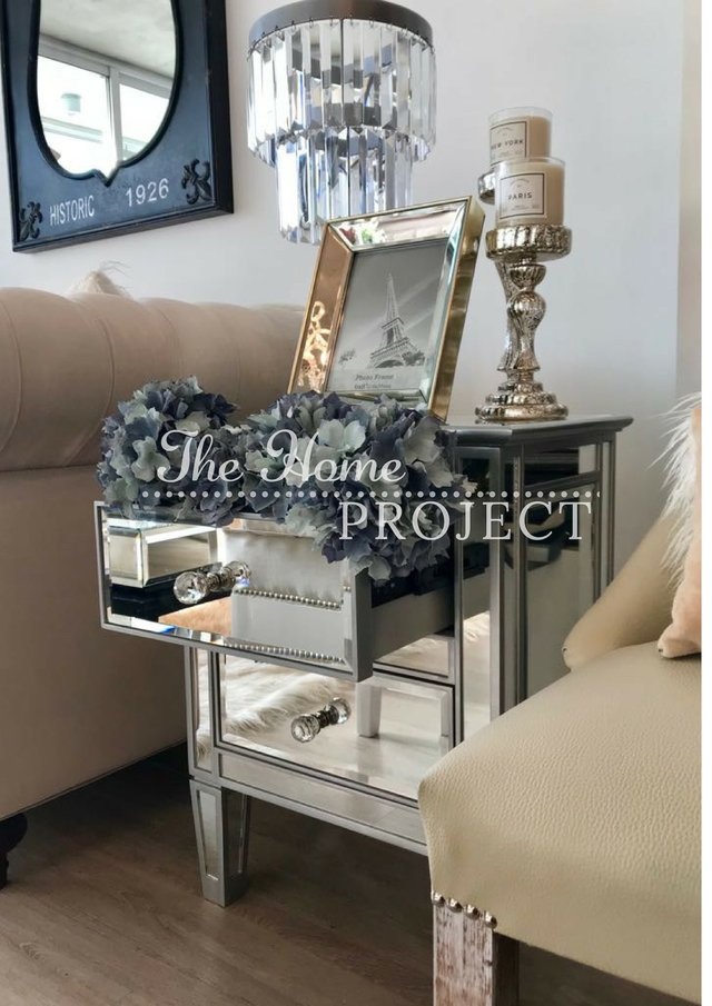 MESA DE LUZ GLAM 2 CAJONES - The Home Project