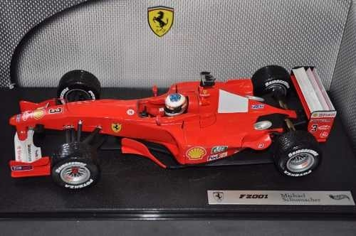 Ferrari F2001 Rain Tires Schumacher Hot Wheels 1/18 - loja online