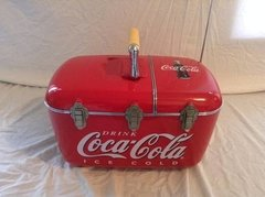 "Cooler Coca Cola ""Vintage Coca Cola Coolbox  Am/fm Cd Player Powered Cooler"" - B Collection"