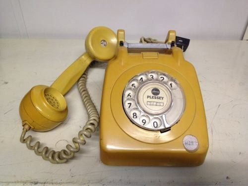 Telefone Antigo Década 70 Cor Amarelo - B Collection