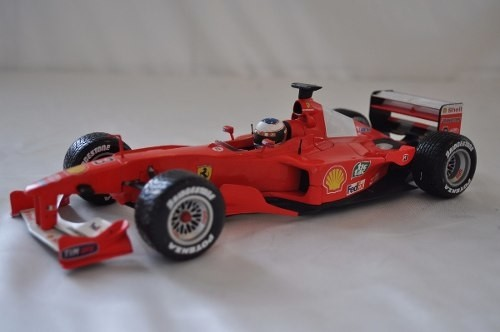 Ferrari F2001 Rain Tires Schumacher Hot Wheels 1/18